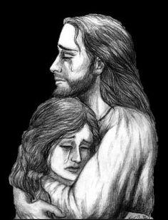 Jesus crying